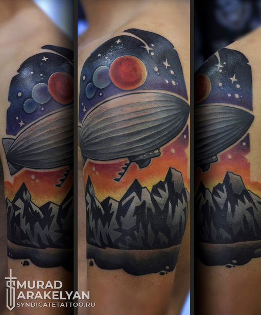 тату в стиле colortattoo, newschool, мастер Мурад Аракелян