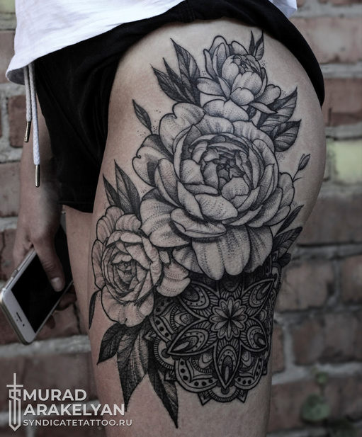 тату в стиле dotwork, blackandgray, graphic, мастер Мурад Аракелян