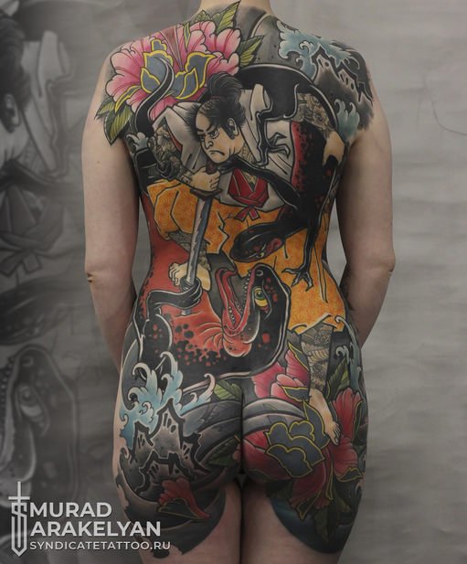 тату в стиле colortattoo, japan, мастер Мурад Аракелян