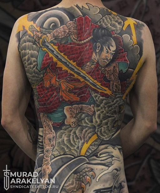 тату в стиле oriental, colortattoo, japan, мастер Мурад Аракелян