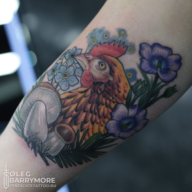 тату в стиле colortattoo, graphic, мастер Олег Бэрримор