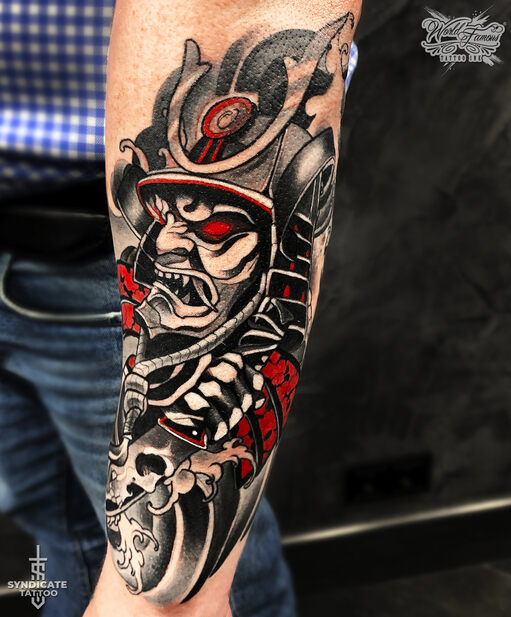 тату в стиле oriental, neo, colortattoo, japan, мастер Алина Вах