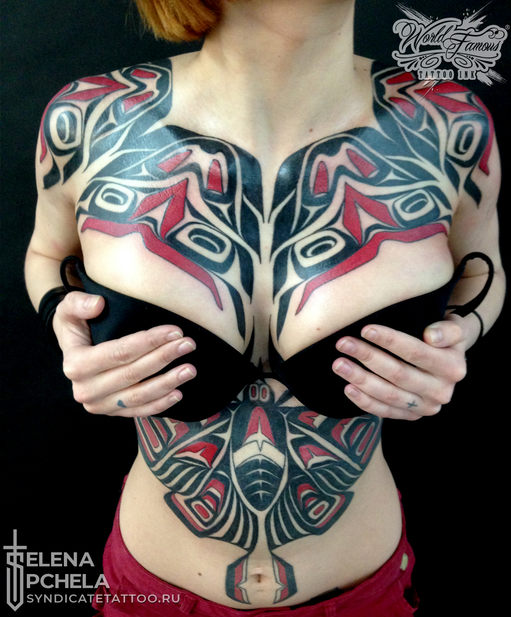 тату в стиле ornamental, colortattoo, graphic, geometry, мастер Елена Пчела