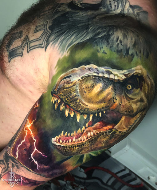 тату в стиле realism, colortattoo, мастер Кирилл Федосеев