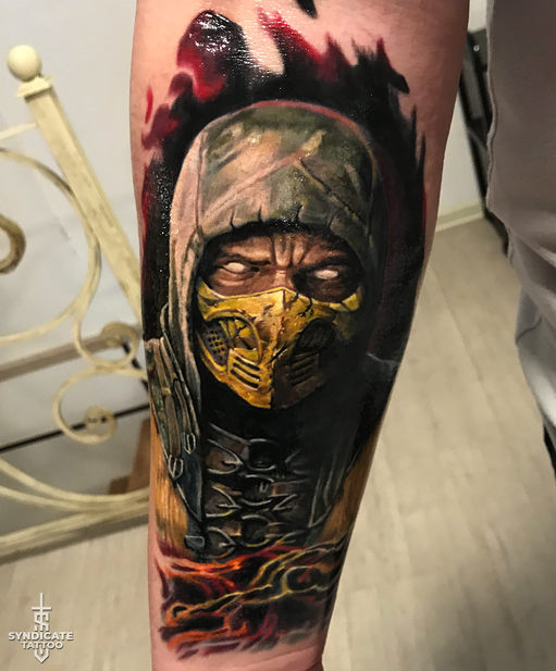 тату в стиле realism, colortattoo, portrait, мастер Кирилл Федосеев
