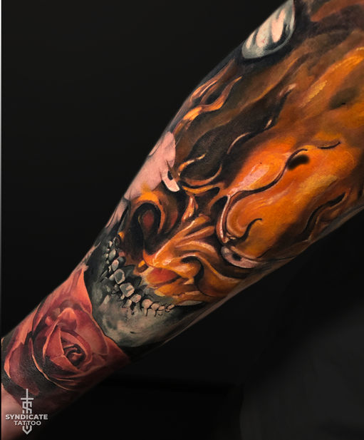 тату в стиле realism, colortattoo, japan, мастер Кирилл Федосеев