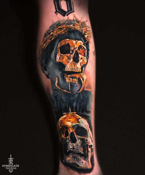 тату в стиле realism, blackandgray, colortattoo, мастер Кирилл Федосеев