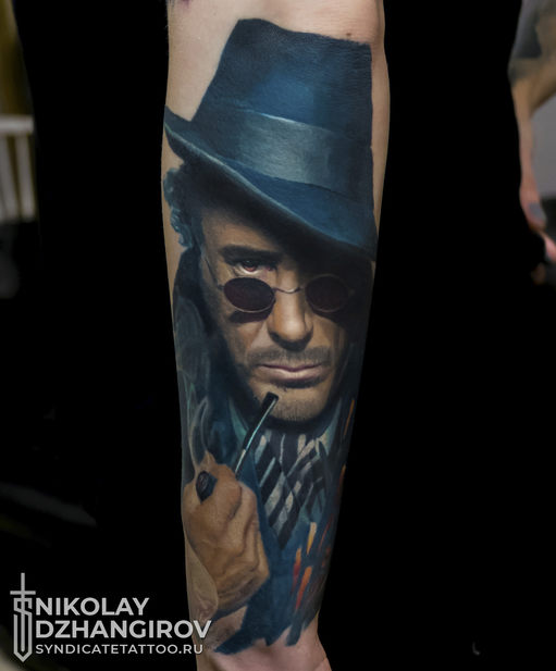 тату в стиле realism, colortattoo, portrait, мастер Николай Джангиров