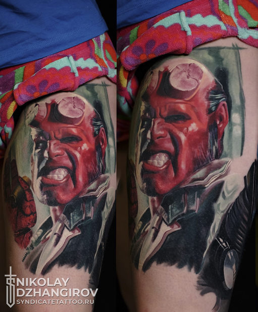 тату в стиле realism, colortattoo, мастер Николай Джангиров