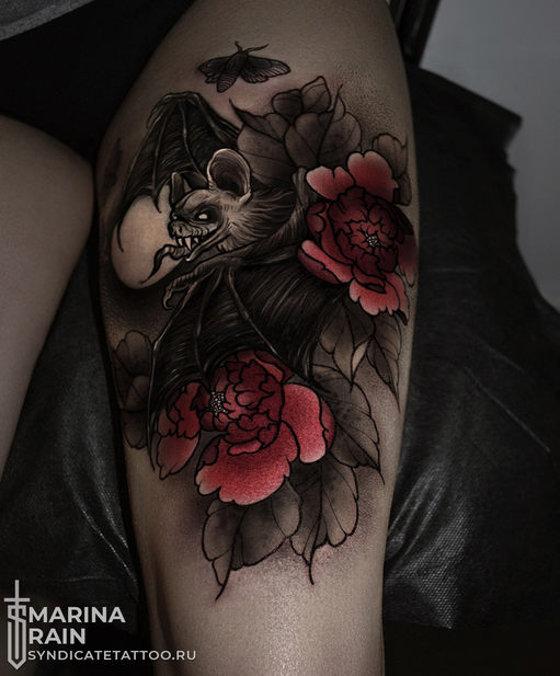 тату в стиле colortattoo, neotraditional, мастер Марина Рэйн
